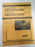 Kauppalehden protestilista - Kauppalehtis protestlista 1955 nr 15-16, ilmetynyt 13.4.1955 -unpaid debts and dues, published in special credit-paper