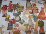 Paperinukke / vaatteita, erä -cut outs / paper doll´s clothes
