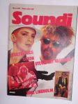 Soundi 1984 nr 4 Eurythmics, Saxon, Stevie Ray Vaughan, Dave Lindholm, Gary Moore Suomessa, Lemmy Kilmister, Hefty Load, Lolita Pop, Fleetwood Mac -music magazine