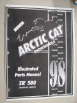 Arctic Cat Snowmobile ZR 500 1998 Illustrated Parts Manual -varaosaluettelo