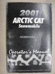 Arctic Cat Snowmobile 2001 operator´s manual -varaosaluettelo