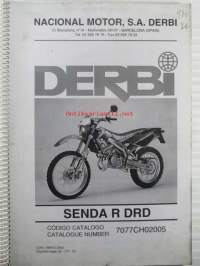 Derbi Senda R DRD, Catalogue number 7077CH02005  - Varaosaluettelo