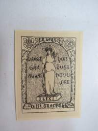 Ex Libris O. Hj. Granfelt -book owner´ mark
