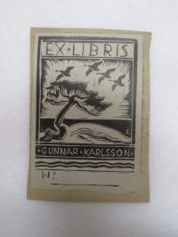 Ex Libris Gunnar Karlsson -book owner´s mark