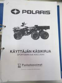 Polaris Sportsman 6X6 A05CL50AA Puolustusvoimat 2007 Käyttäjän käsikirja ja koulutusopas kansiossa -operator´s manual - SA / Finnish Army manual for terrain vehicle