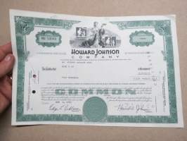 Howard Johnson Company, 200 shares, nr NU 53049, 1972 -share certificate / osakekirja